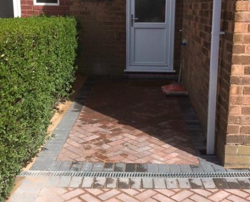 Block paving pathway Brierley Hill