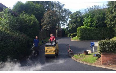 Private roads resurfaced with tarmac in Dudley, Stourbridge and Brierley Hill